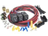 Painless Performance 30117 Dual Activation, Dual Electric Fan Relay Kit with Thermostatic Switch
