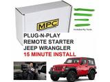 MPC Remote Start for Jeep Wrangler 2007-2018 Key-to-Start - Plug N Play
