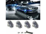 Car Tire Wheel Lights, 4pcs Solar Car Wheel Tire Air Valve Cap Light With Motion Sensors