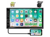Camecho Android 9.0 Car Stereo 7 inch Double Din Car Radio 1G/16G GPS Navi 1080P Touch Screen