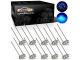 Partsam 10PCS Blue T4.7 Instrument Panel LED Light Gauge Cluster Bulbs