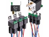 ONLINE LED STORE 6 Pack 4-Pin 12V Bosch Style Fused Relay Switch Kit
