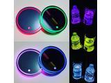 2PCS LED Car Cup Holder Lights Up Coaster, 7 Colors