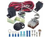 American Volt Dual Radiator Electric Fan Adjustable Thermostat Relay Wiring Switch
