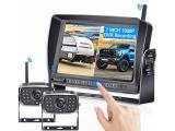 DoHonest V23 HD 1080P Digital Wireless Dual Backup Camera
