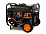 WEN DF475T Dual Fuel 120V/240V Portable Generator with Electric Start Transfer Switch Ready