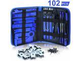 Dualeco Trim Removal Tool Set 102Pcs, Car Trim Puller Tool Kit, Plastic Pry Tools Set