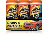 Armor All - 18782 Protectant, Glass and Cleaning Wipes, 30 Count Each