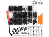 Uolor 725 Pcs Car Retainer Clips & Plastic Fasteners Kit with Fastener Remover