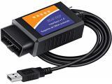 FORScan ELM327 OBD2 USB Adapter for Windows, Diagnostic Coding Tool