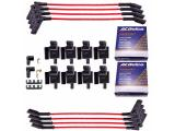 MAS 8 Square Ignition Coil and OEM Platinum spark plugs with wires