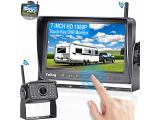 RV Backup Camera Wireless HD 1080P with 7 Inch Touch Key DVR Monitor