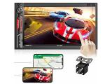 7 inch Double Din Car Stereo: aboutBit HD Touchscreen Bluetooth Car Audio Receiver MP5 Multimedia Player