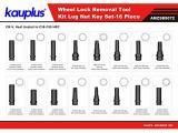 Kauplus 16PCS Wheel Locking Lug Master Key Set Photo 1