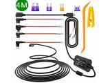 iiwey Dash Cam Hardwire Kit, 4 Meter Dashboard Camera Car Charger Cable Kit 12V- 24V