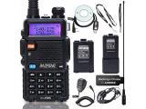BaoFeng UV-5R High Power Two Way Radio Portable Ham Radio with one More 3800mAh Battery