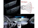Auto Interior Rear View Mirror Convex Blue Surface Photo 2